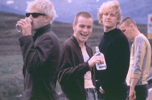 Un frame del film Trainspotting